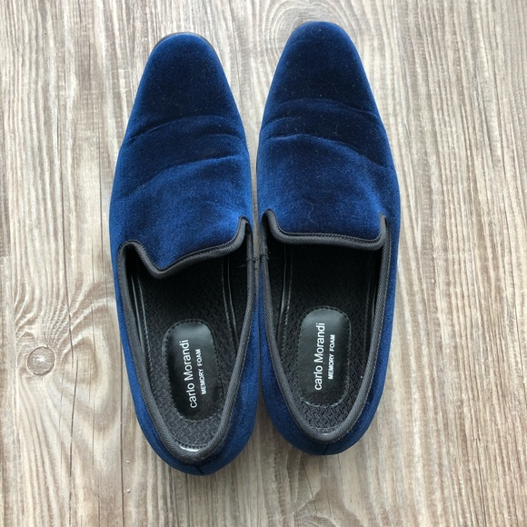 Carlo Morandi Velvet Loafers